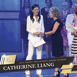 Catherine Liang at Junior Miss awards