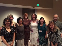 Sonoma County member, state president, Gwen Churchill, 4th from left